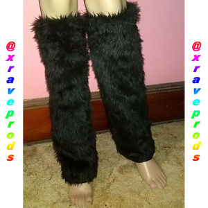 RAVE FLUFFIES - Leg Warmers Faux Fur Winter Dance